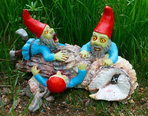 When your garden needs a little walking dead, Zombie Gnomes artist ...